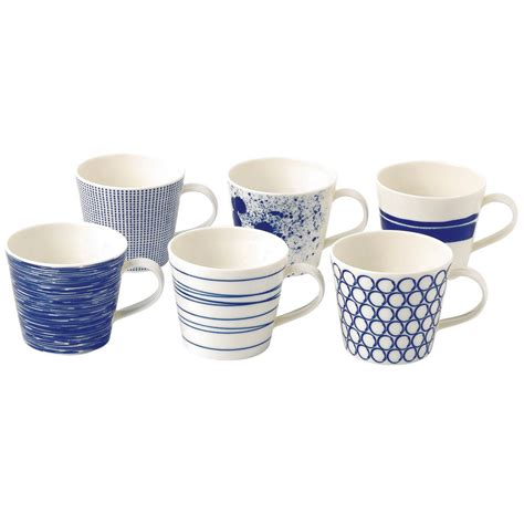 moderne geschirr sets royal doulton pacific mugs set of 6