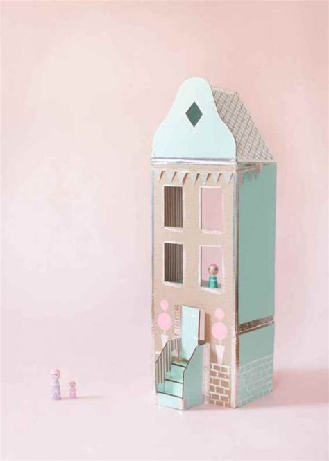 easy doll house sweet and easy diy cardboard dollhouse to make kidsomania