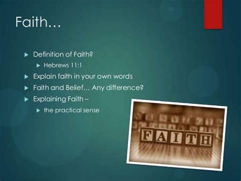 Follow Up Studies - Christian Living - Prayer, Faith and Works Explain Hebrews