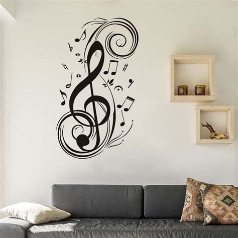 dctop diy musical note home decor wall stickers