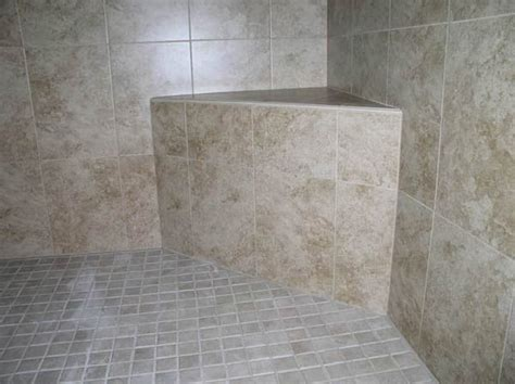 tiled shower bench 47 best images about shower stall with seat on pinterest