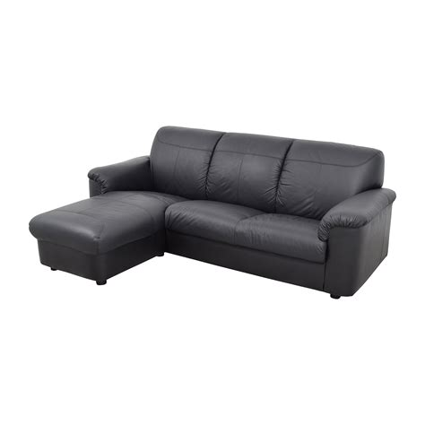 Ikea Leather Sectional Sofa 41 Ikea Ikea Black 3 Leather Sectional Sofas
