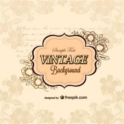 Was Ist Vintage by Vintage Retro Hintergrund Der Kostenlosen Vektor