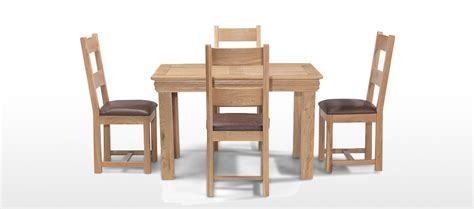 oak dining table and 4 chairs constance oak 125 cm dining table and 4 chairs quercus