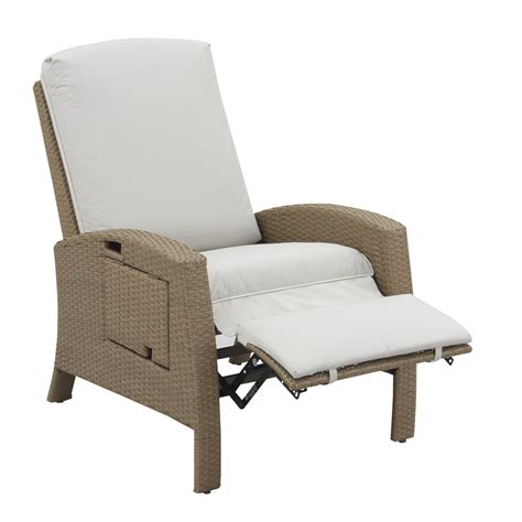 Wicker Patio Lounge Chairs Outsunny Outdoor Rattan Wicker Adjustable Recliner Lounge Chair Beige And Gray Outdoor Chairs