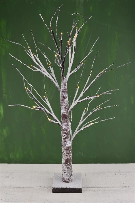 white birch tree with lights led birch tree 24in 24 warm white lights battery op timer