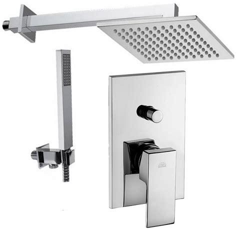 montaggio miscelatore doccia incasso paffoni soffione braccio doccetta e miscelatore con