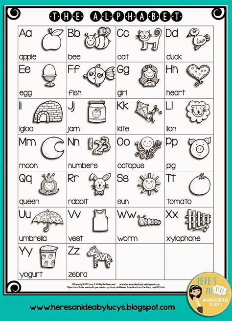 Alphabet Chart Coloring Page | free b w english alphabet chart have kids color the