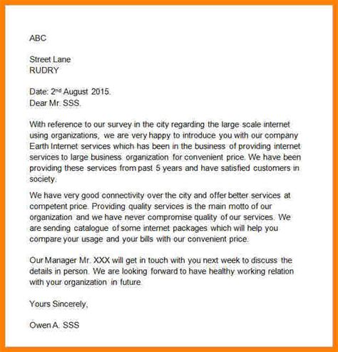 Business Introduction Letter To Customer 5 business to customer introduction letter sle