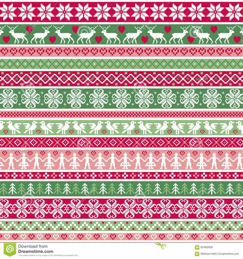 christmas pattern border christmas nordic stripe border patterns stock image