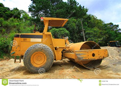 Heavy Industrial Machinery steamroller royalty free stock photos image 34381798