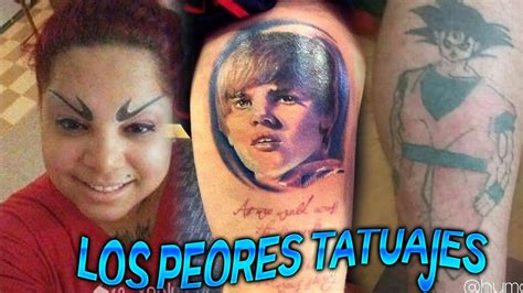 los peores tatuajes los peores tatuajes del mundo youtube