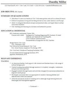 esl lesson plan writing a resume