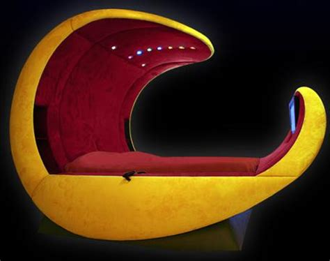 Egg Bed by The Cosmovoide A Luxury Egg Shaped Bed With Led Lights