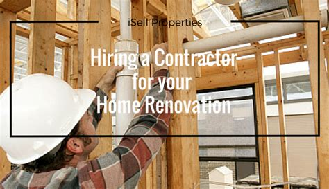 hiring a contractor for your home renovation