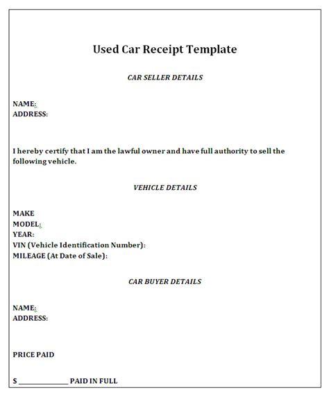 private car sale receipt template stervantes club