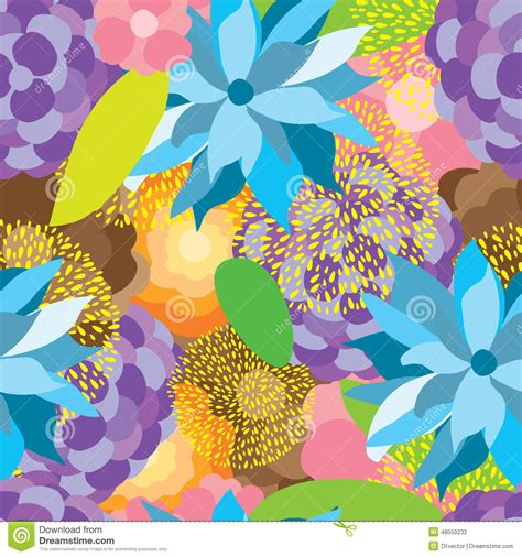natural pattern flower flower fabric colorful seamless pattern stock vector