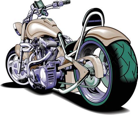 Motocross Motorrad Comic by Vector Motorbike Stock Vector Colourbox