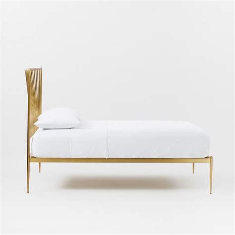brass frame bed stella metal bed brass west elm