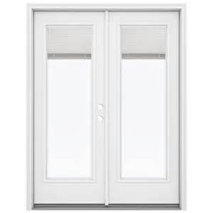 Patio Doors With Built In Blinds Prices by Shop Reliabilt 59 5 In Blinds Between The Glass Primed