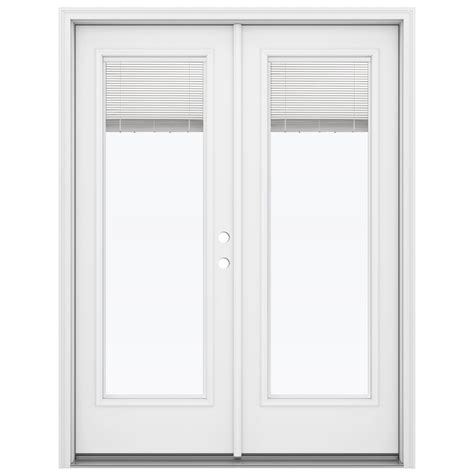 Blind For Patio Doors Shop Reliabilt 59 5 In Blinds Between The Glass Primed Steel Inswing Patio Door At Lowes