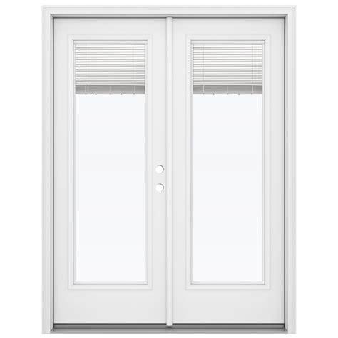 Reliabilt Patio Door Shop Reliabilt 59 5 In Blinds Between The Glass Primed Steel Inswing Patio Door At Lowes