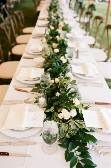 Table Runner Wedding by Leafy Green Garland Table Runner Ideas For Green