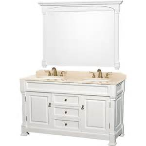 60 Vanity Marble Top Shop Wyndham Collection Andover White Undermount