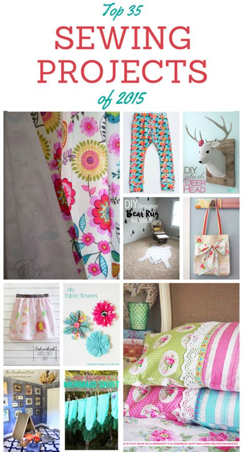 top diy projects top 35 sewing projects of 2015 with tutorials