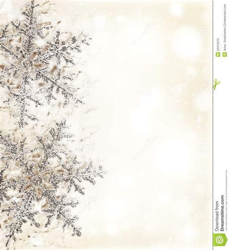 snowflake beige decorative border royalty free stock photo