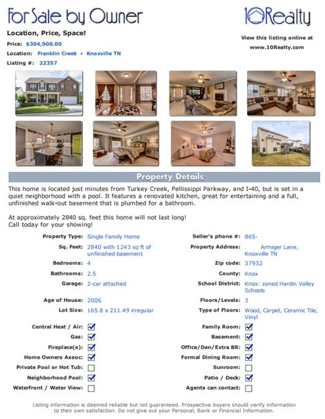 for sale by owner brochure template free fsbo listing free for sale by owner website