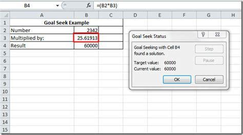 goal seek tutorial excel 2010 goal seek in excel 2010