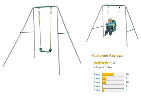 Set 2in1 plum baby swing metal 2 in 1 swing has some poor reviews swing set specialist