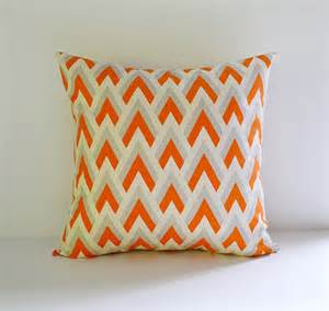 22x22 Cushion Covers 22x22 Pillow Cover Decorative Pillows Orange By