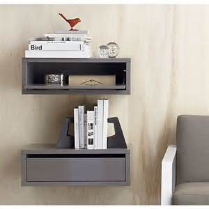 shelves as nightstands slice grey wall mounted storage shelf grey walls