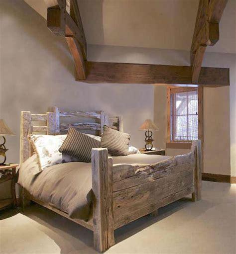 barn wood bed frame barn headboard footboard mi casa pinterest