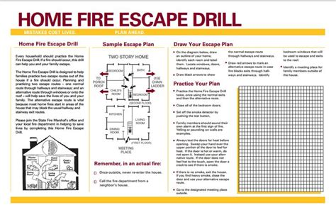 home fire escape plan home fire safety and escape plan school pinterest