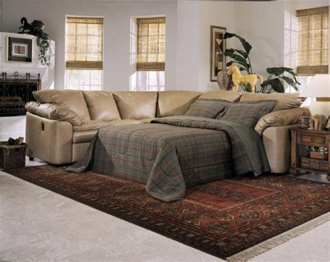 furniture beige leather recliners sleeper sofa with arm