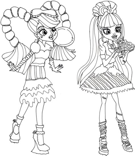 Print Download Monster High Coloring Pages Printable High Free Printable Colouring Pages