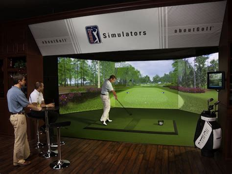 golf swing simulator trackman golf simulator cave t golf simulators
