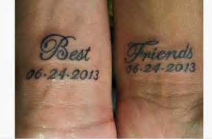 Best friend tattoo quote on wrist