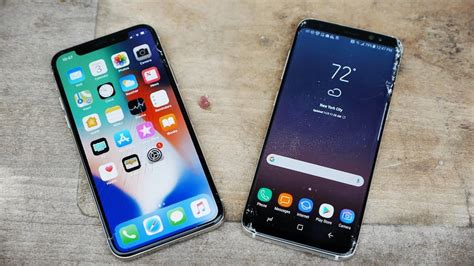 Iphone X Vs Samsung Galaxy S10 by Iphone X Vs Samsung Galaxy S8 Drop Test