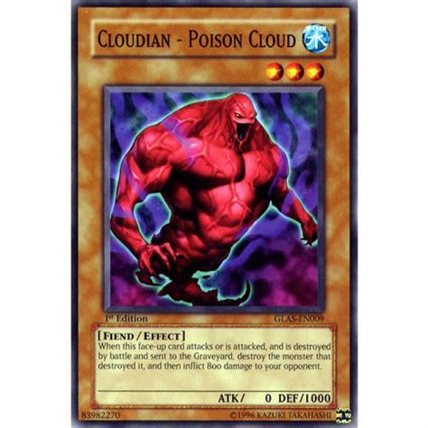 Kartu Yugioh Cloudian Poison Cloud Common cloudian poison cloud glas en009 1st edition yu gi oh card