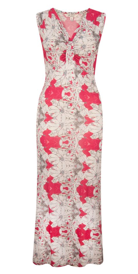 Ivj Dress adini island flower print maxi dress in strawberry