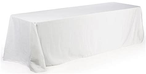 6 foot table cloth tradeshow table covers white fabric for 6 foot tables