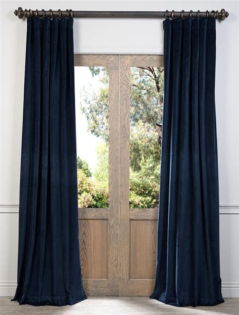 velvet curtain club blue ink vintage cotton velvet curtain sku vcch 3150206