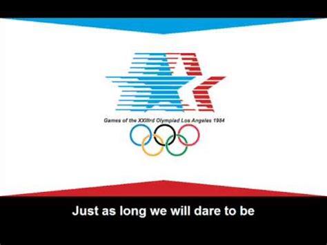 themes de 1984 1984 olympic games theme song lyrics hino dos jogos