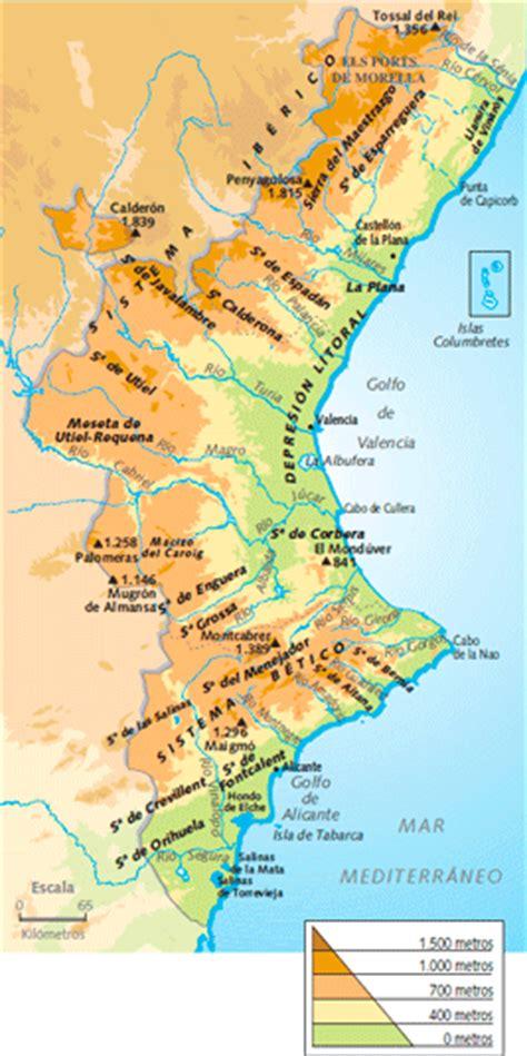 valencia y comunidad valenciana 8497760484 mapa rios valencia