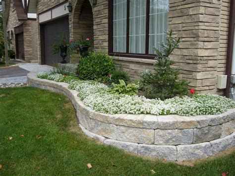 Front Yard Landscaping Ideas Contemporary Landscape Garden Block Wall Ideas