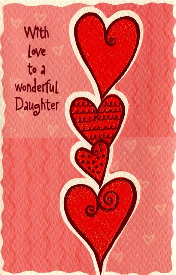 printable valentines card for daughter free valentine s day clipart daughter pencil and in color